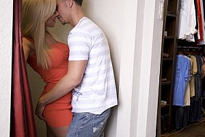 humping womens panties on the floor