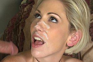 jessica moore getting a messy bukakke facial